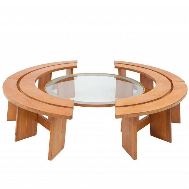 Pierre Chapo Curved Benches For Sale - Image 11 of 11
