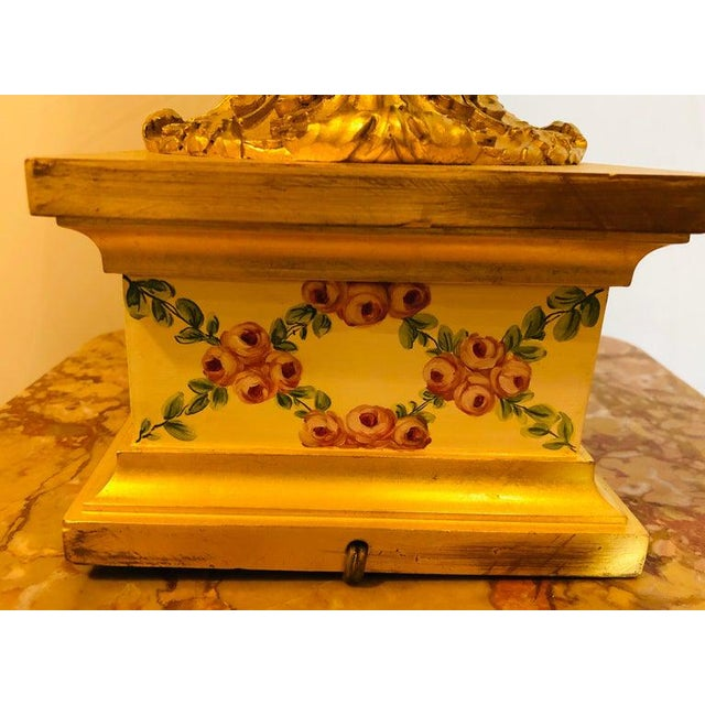 French Table Lamp Trellis Floral Porcelain Urn With Rams Head Gilt Bronze Mounts For Sale - Image 9 of 13
