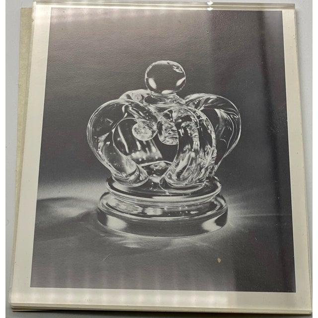 Vintage Steuben Glass Lloyd Atkins Decorative Crystal Crown For Sale - Image 9 of 13