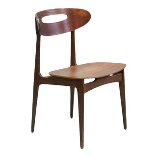 1950s Modern Teak Wood Dining Chair by Johannes Andersen For Sale