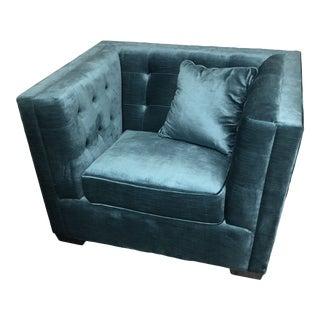 Mid Century Modern Velvet Chair For Sale