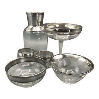 Mid-Century Modern Dorothy Thorpe Assorted Glass Pieces - Set of 6 For Sale