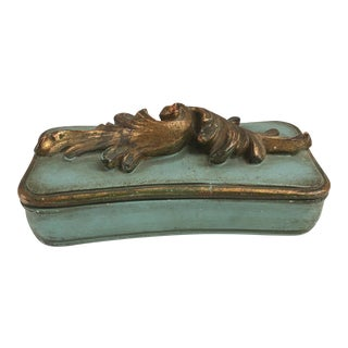 Vintage Italian Rococo Style Borghese Vanity Box For Sale
