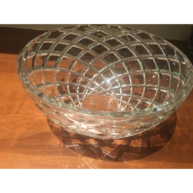 This is a beautiful diamond cut bowl in had-cut lead crystal in excellent condition from Tiffanies. Contemporary yet...