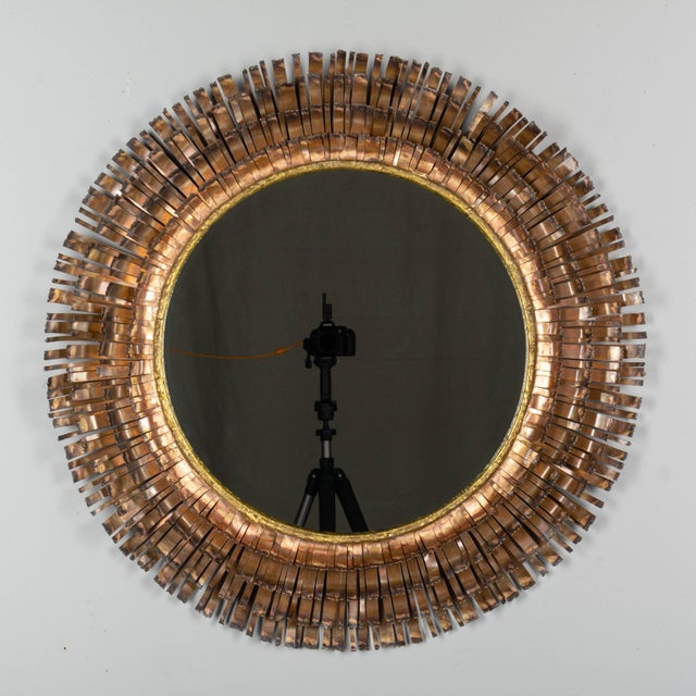 Curtis Jere Copper Eyelash Mirror For Sale - Image 12 of 12