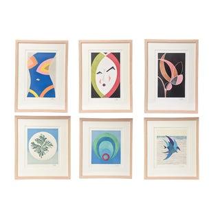 "Set of Six Emilio Pucci Works of Art Entitled"" The Art of Emilio Pucci"""