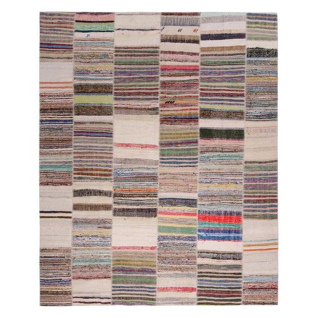 Luxury Rug Kilim S Patchwork Beige And Multi Color Wool Kilim