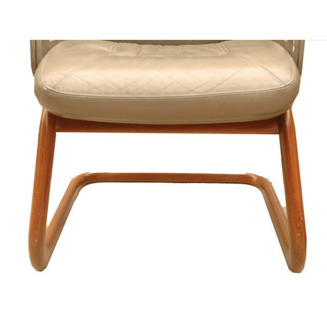 Modern Leather German Chairs - A Pair - Image 4 of 6