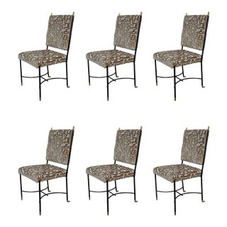 A Set of 6 Italian Armchairs, Italy 50' For Sale
