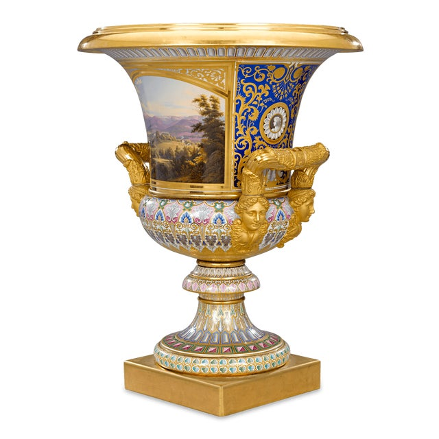 Country Royal Kpm Porcelain Krater Vase For Sale - Image 3 of 7