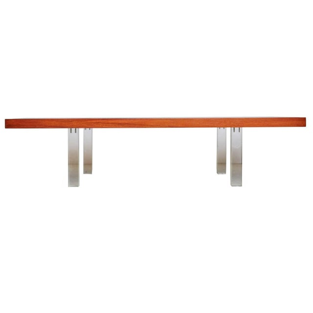 Wood Milo Baughman for Directional Walnut and Lucite Coffee Table, Circa 1960 For Sale - Image 7 of 7