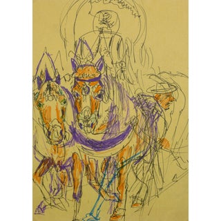 Irmgard Von Reppert, Drawing of Horses For Sale
