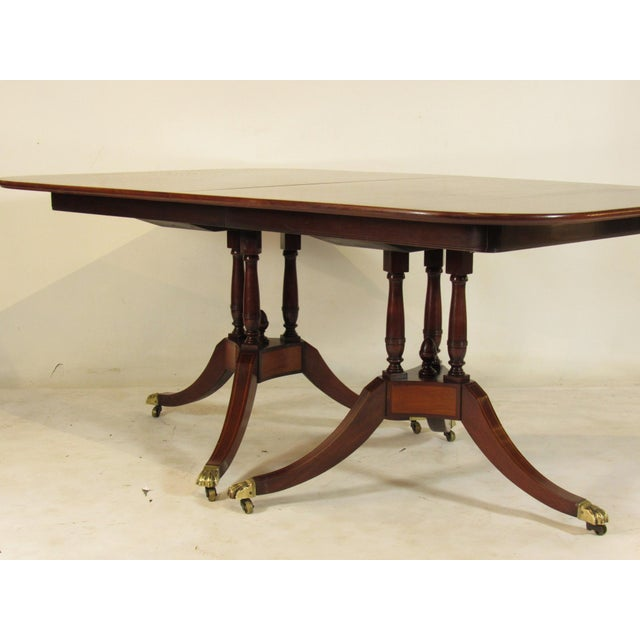 20th Century Regency Style Inlaid Dining Table For Sale - Image 4 of 11