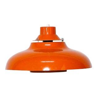 Orange Danish Aluminum Pendant Lamp
