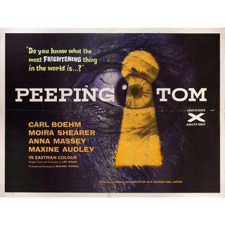 Peeping Tom 1960 British Quad Film Poster For Sale