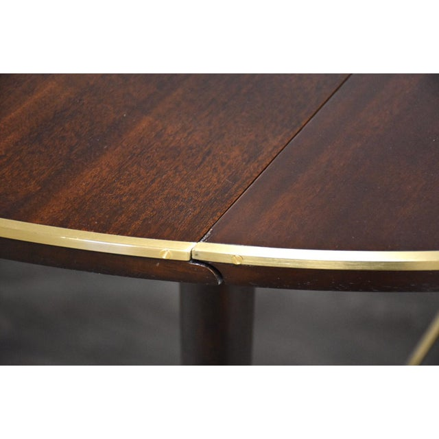 Paul McCobb Mahogany and Brass Dining Table For Sale In Boston - Image 6 of 13