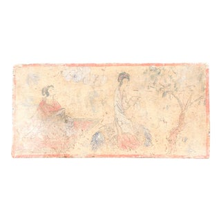 Peaceful Hand Painted Liao Dynasty Style Mural Tile For Sale