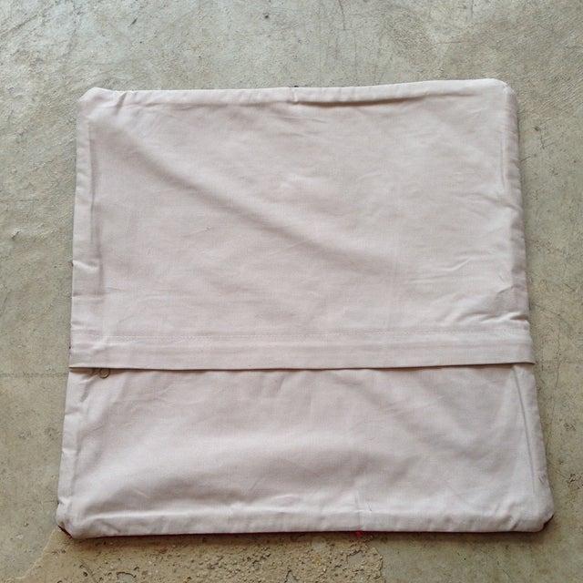 Vintage Black & Pink Kilim Pillow Cover - Image 5 of 5