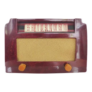 Art Deco Dewald Art Deco Catalin Red Step Top Radio For Sale
