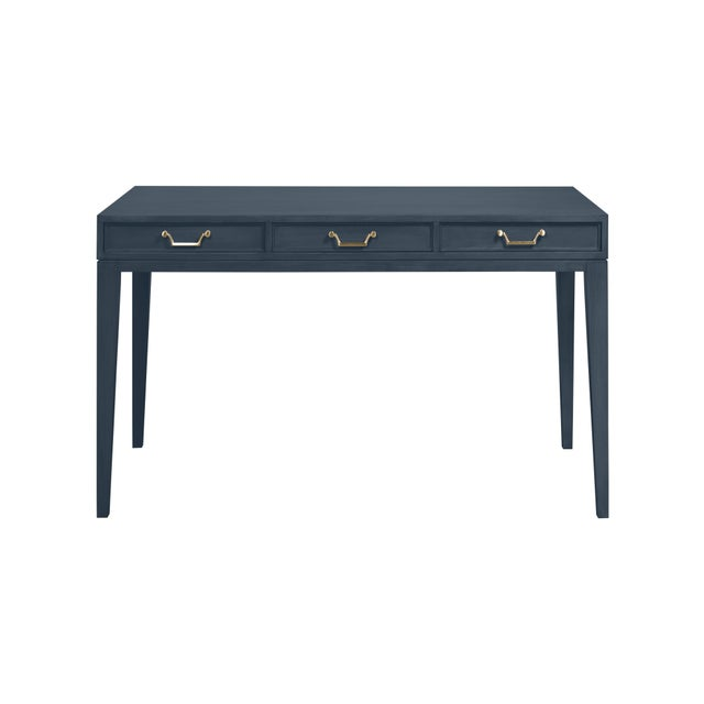 Traditional Casa Cosima Living Tilda Desk - Hale Navy For Sale - Image 3 of 3