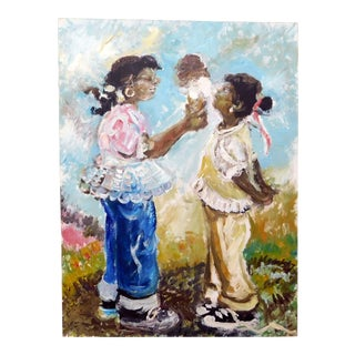 """1990s Vintage Andrew Turner """"Double Dip'"""" Oil Painting For Sale"""