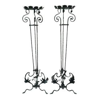 Late 19th Century Vintage Torcheres Pedestals- A Pair For Sale