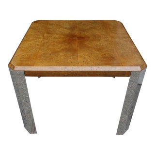 Midcentury Leon Rosen for Pace Collection Burl Wood Table