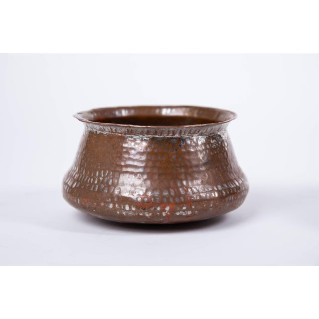 Trio of Indian Hand Wrought Copper Vessels - Set of 3 For Sale - Image 4 of 5