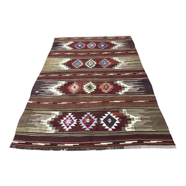 Vintagr Turkish Kilim Rug For Sale