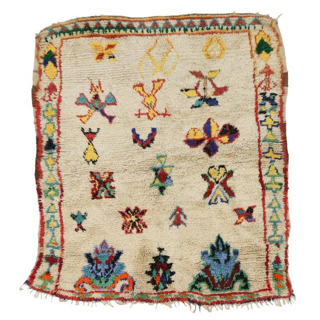 Vintage Berber Moroccan Rug with Modern Tribal Design For Sale In Dallas - Image 6 of 7
