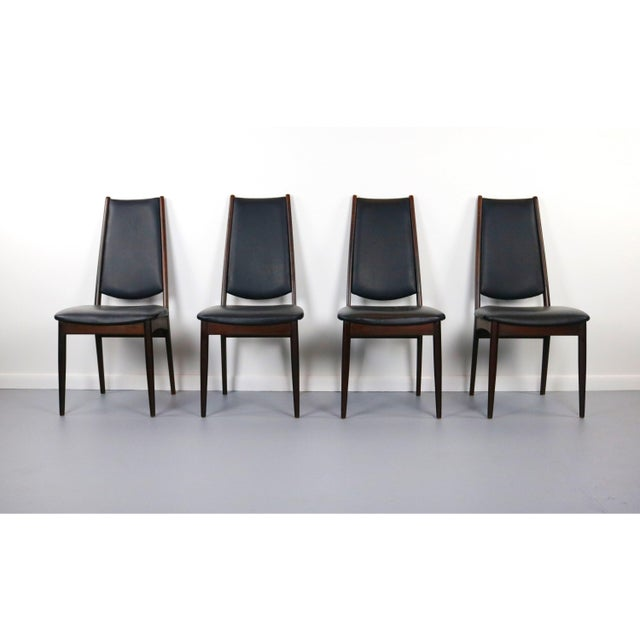 Mid-Century Modern Rosewood Danish Modern Dining Chairs - a Set of 4, Denmark For Sale - Image 3 of 5