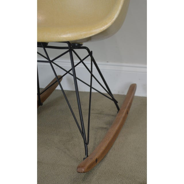 Herman Miller Charles and Ray Eames Fiberglass Shell Rocker For Sale - Image 10 of 13
