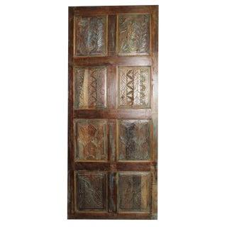 Antique Carved Wooden Door For Sale