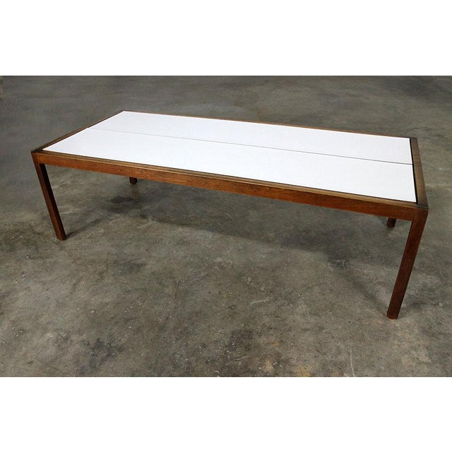 Walnut Lewis Butler for Knoll Walnut & White Laminate Coffee Table For Sale - Image 7 of 11