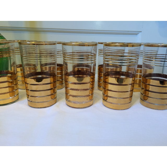 Holiday Christmas Bar Set with Culver Gold Glasses - Image 5 of 9