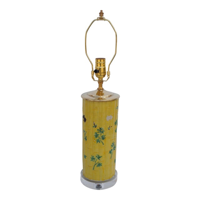 Chinese Bamboo Form Lamp For Sale