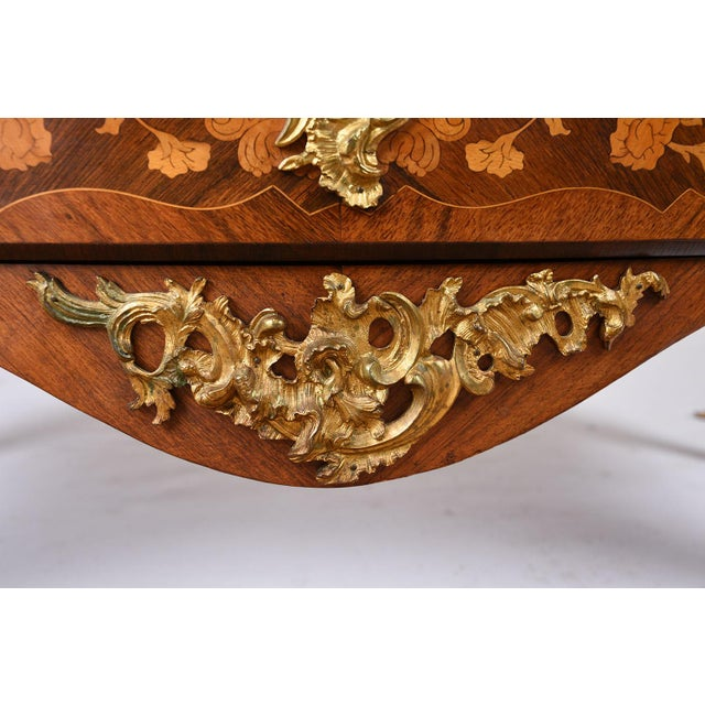 Late 19th Century Louis XV-style Marquetry Chest of Drawers - Image 10 of 10