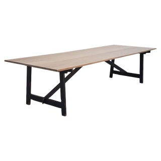 Country Dining Table Made From Rift Sawn Oak For Sale
