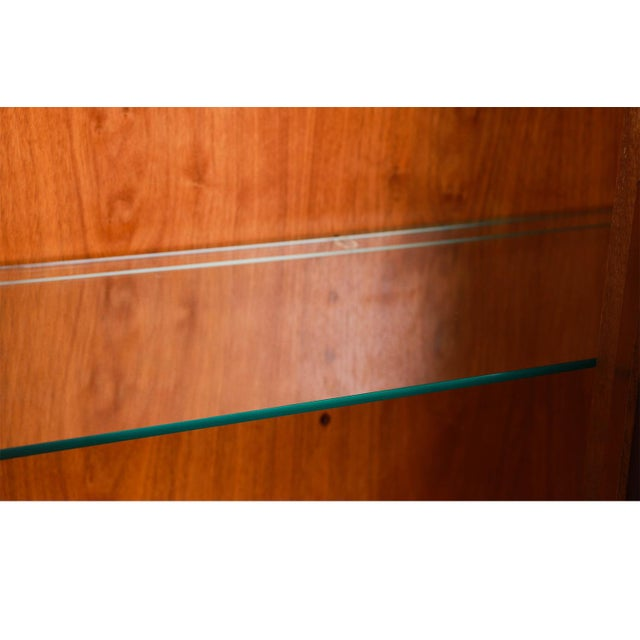 Mid Century Lane First Edition Walnut Buffet Credenza Hutch For Sale - Image 10 of 13