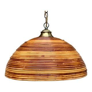 Vintage Rattan Indoor/Outdoor Ceiling Light For Sale