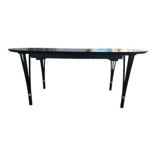 1990s Niels Jorgen Haugesen Danish Expandable Oak Dining Table For Sale