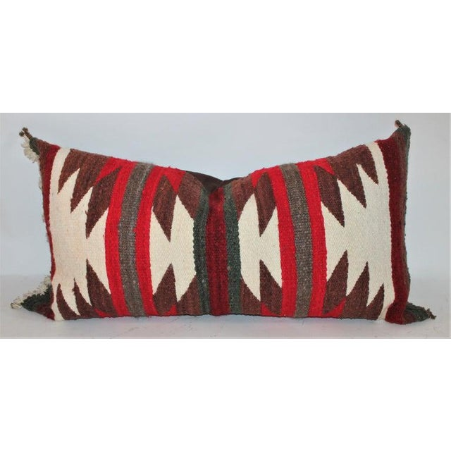Navajo Indian Saddle Blanket Pillows - Set of 3 For Sale - Image 4 of 11