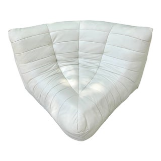 Michael Ducaroy Togo Style White Vinyl Corner Seat For Sale