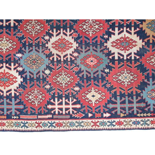 """Leon Banilivi Antique Caucasian Kilim - 6' X 10'8"""" - Image 4 of 5"""