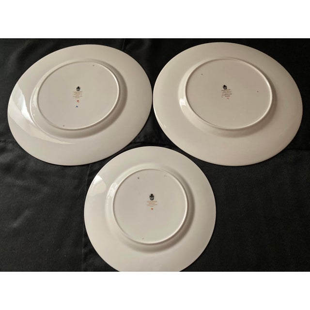 Wedgwood Wedgwood Dinner and Salad Plates Florentine, England - Set of 3 For Sale - Image 4 of 10