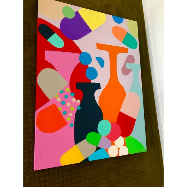 Contemporary Mid-Century Inspired Painting by Tony Marine For Sale - Image 3 of 5