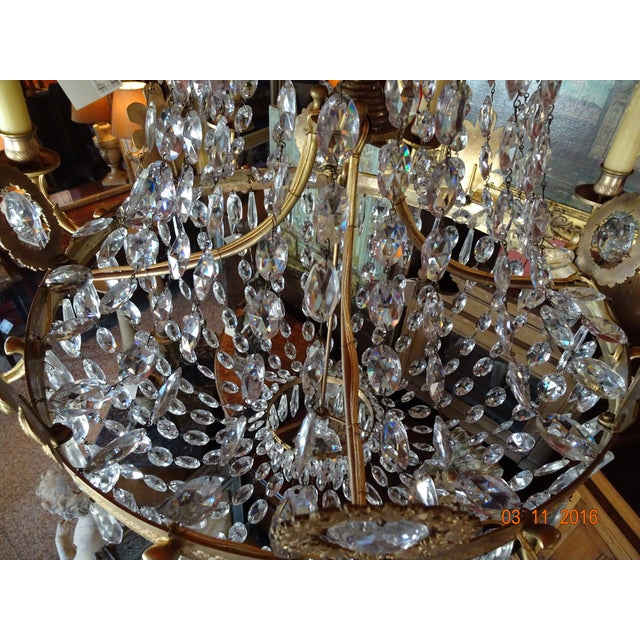 19th Century French Empire Crystal Chandelier For Sale - Image 9 of 12