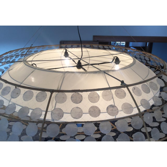 Balinese-Style Chandelier For Sale - Image 5 of 8