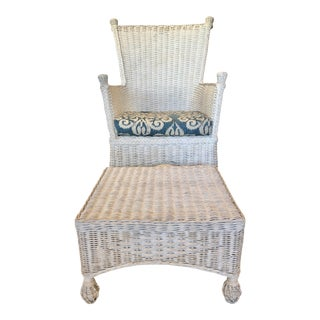 Mainly Baskets Eastern Shore Porch Chair and Ottoman - a Set For Sale