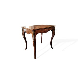 20th Century French Kingwood and Satinwood Marquetry Occasional Table Preview